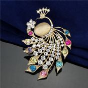 Peacock Brooch Pins images