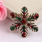 Snowflower Rhinestone Metal Pin images