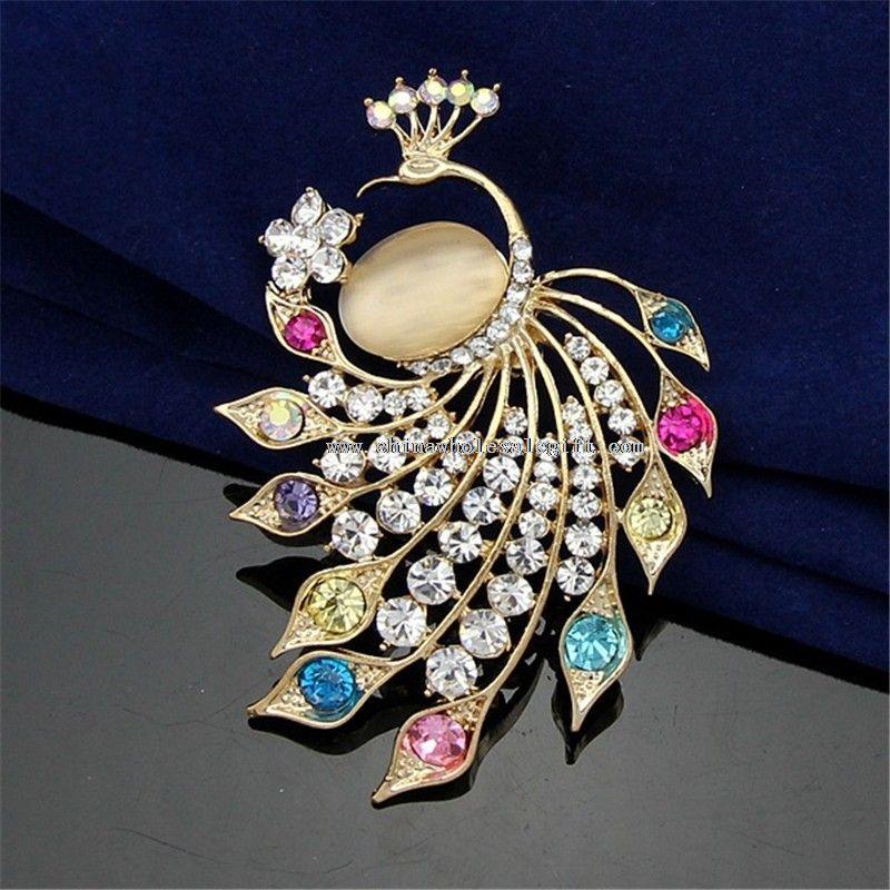 Peacock Brooch Pins