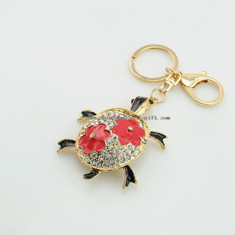 Crystal Tortoise Keychain