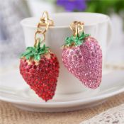 3D Mini Strawberry Keychain images