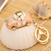car shaped crystal keychain images