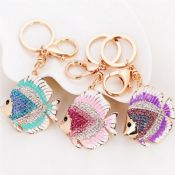 Fish Shape Crystal Bag Keychain images