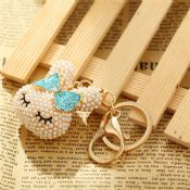 rabbit shaped pearl keychain images