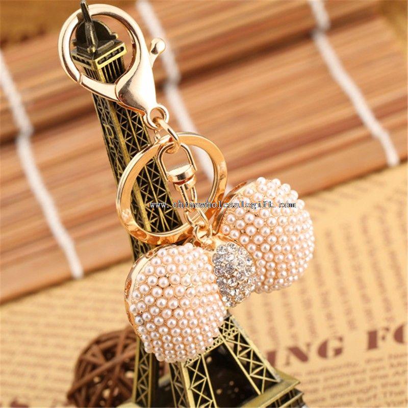 mini pearl keychain
