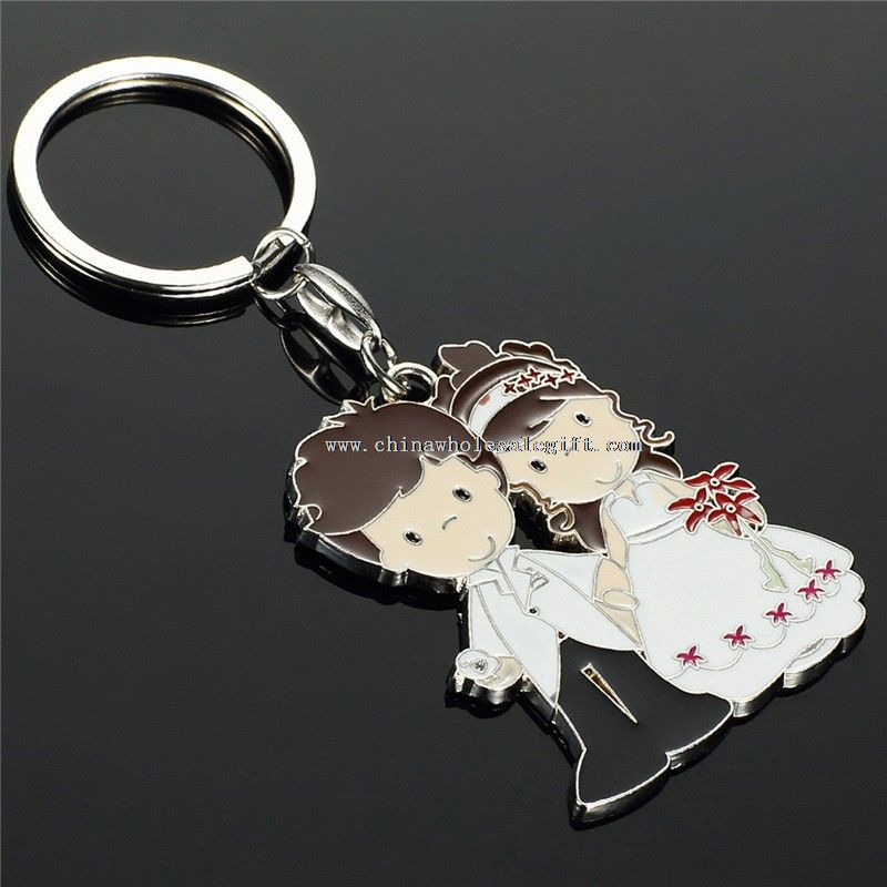 Couple lovers custom logo keychain