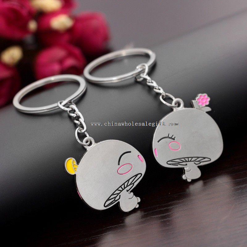 couple metal cute keychain