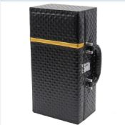 PU wine carrier single red wine box images