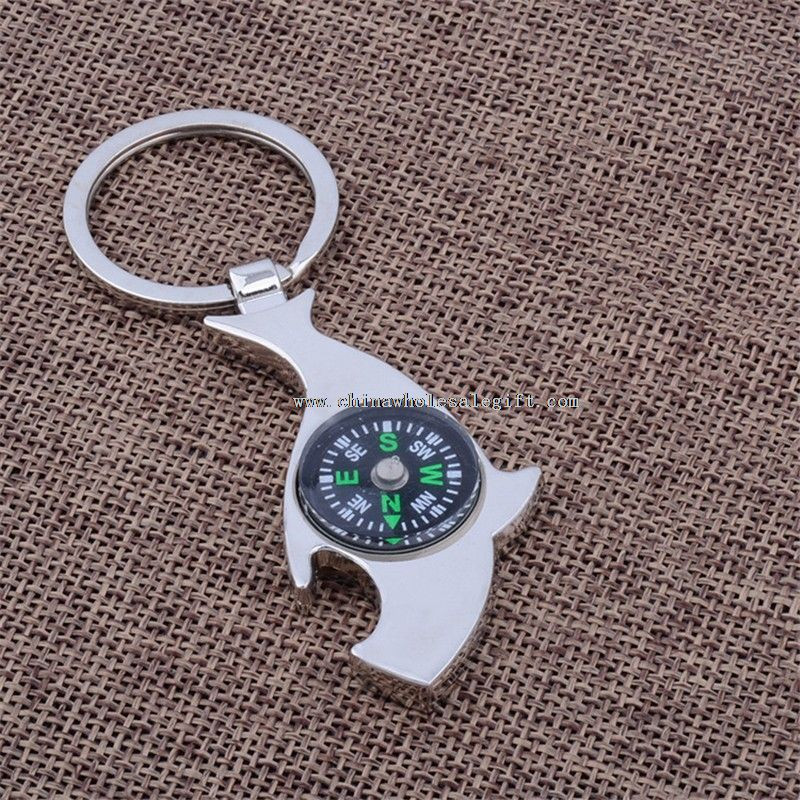 metal compass keychain