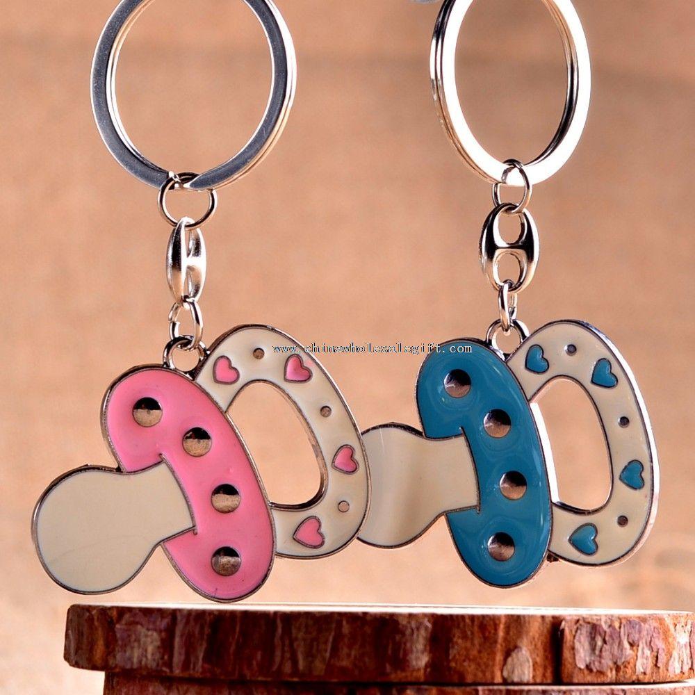 nipple shaped novelty enamel keychain