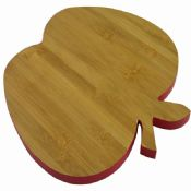 apple shaped mini bamboo cheese cutting board images