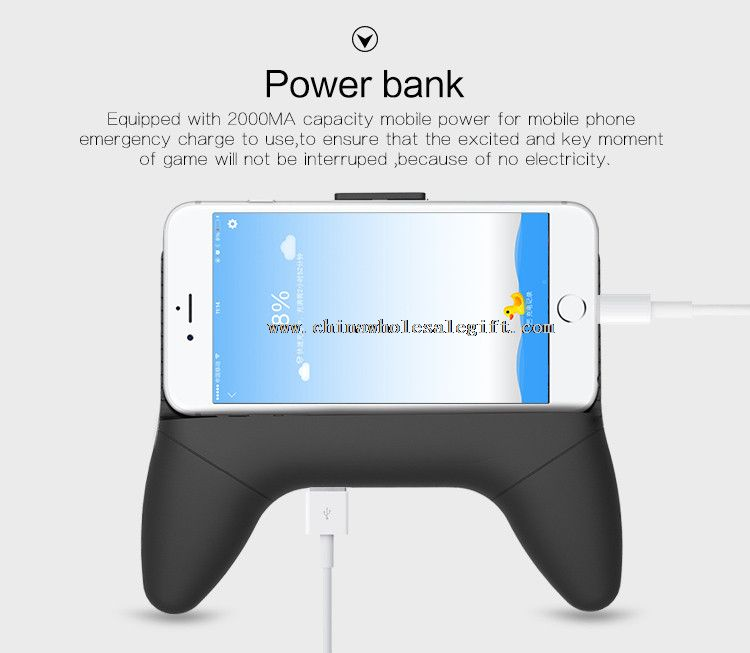 Four in one game joystick controller 2000mAh multiple phone charger power bank with cooling fan