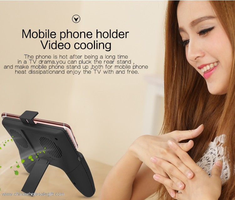 Four in one game joystick controller 2000mAh multiple phone charger power bank with cooling fan 6