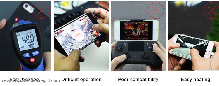 Four in one game joystick controller 2000mAh multiple phone charger power bank with cooling fan 8